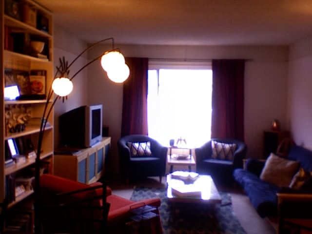 view to living room