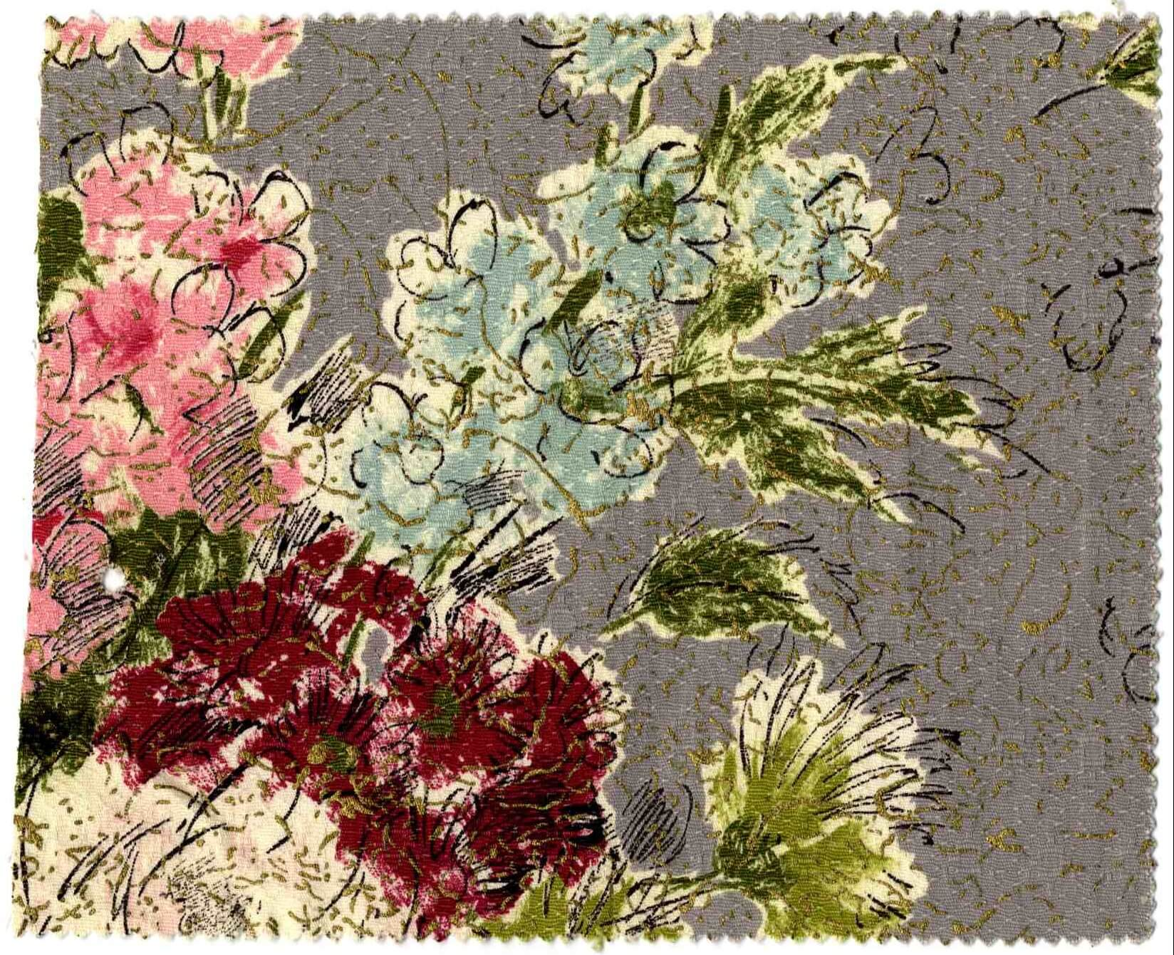 vintage-waverly-fabric-spring-frolic-medium-grey