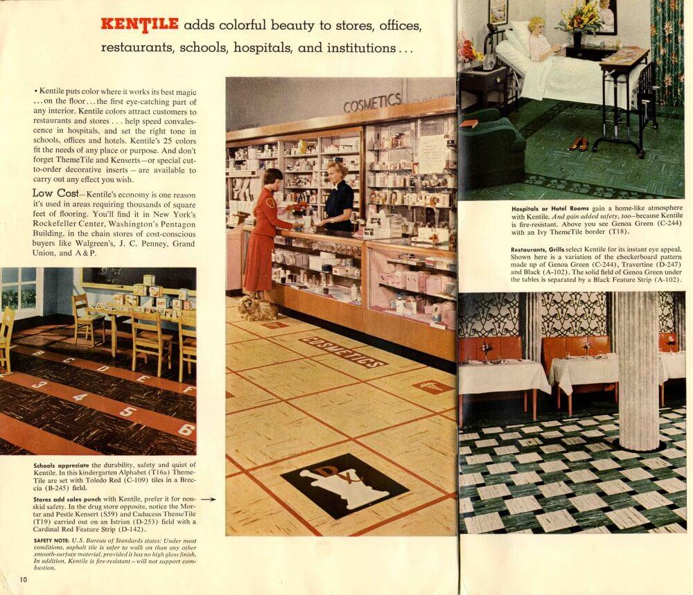 1950s Tile Patterns Retail Locations Kentile Retro