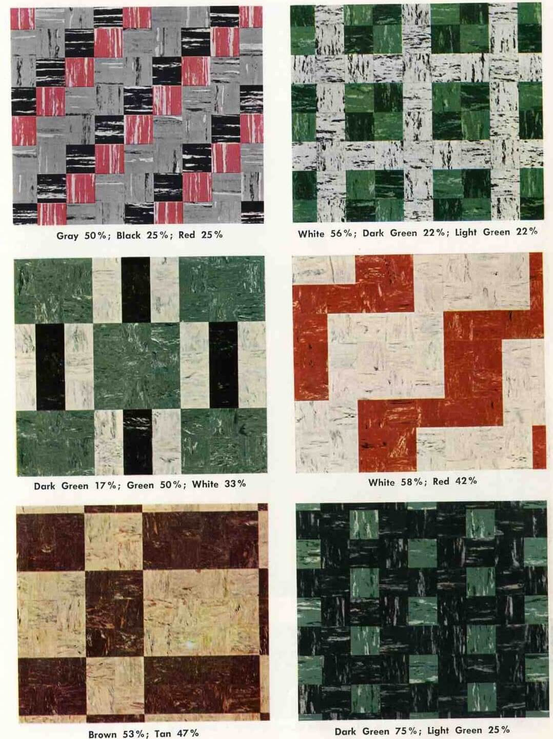 1955 Armstrong Tile Decorative Patterns Retro Renovation