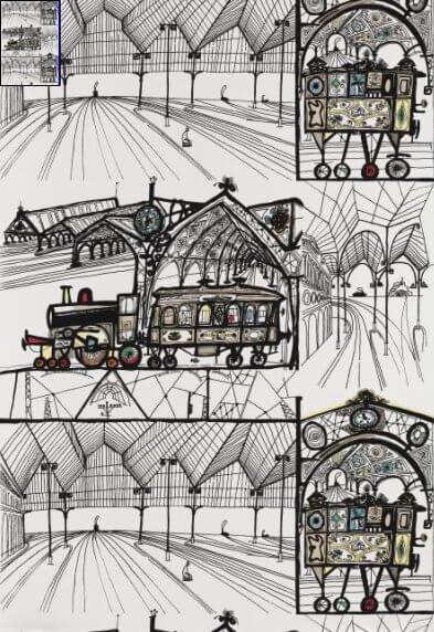 schumacher-wallpaper-by-saul-steinberg-trains
