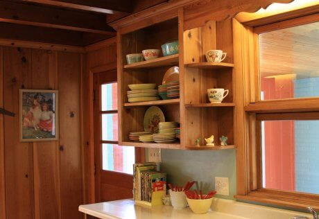 A knotty pine kitchen   respectfully retained and revived   Retro   We  . Knotty Pine Kitchen Cabinets. Home Design Ideas