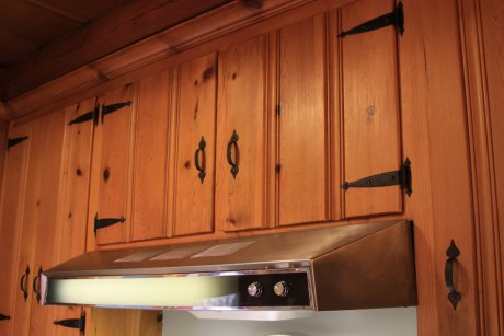 Vintage Knotty Pine Kitchen Cabinets
