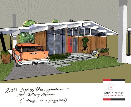 when i first showed teds sketch for the landscape design of this eichler house i promised more coverage of mid century modern landscaping ideas - Mid Century Modern Landscape Design Ideas
