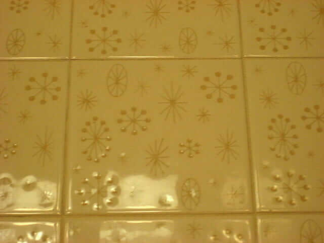 Ceratile Stardust Pattern Tiles In Amy 39 S 1962 Bathroom Oh My Retro Renovation