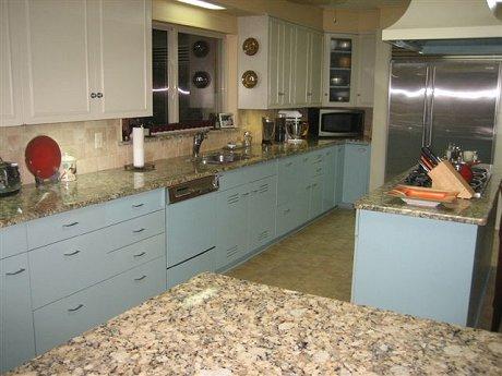 1964 blue metal kitchen cabinets