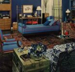 1969 bedroom painted blue