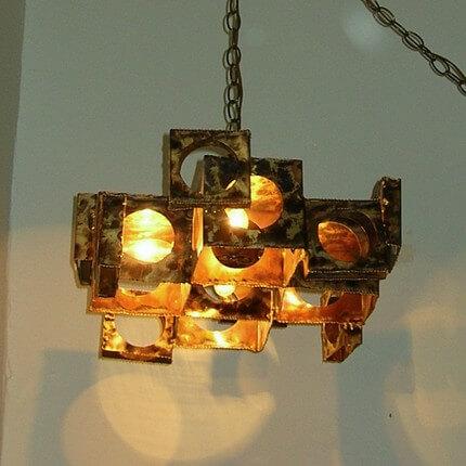 brutalist chandelier