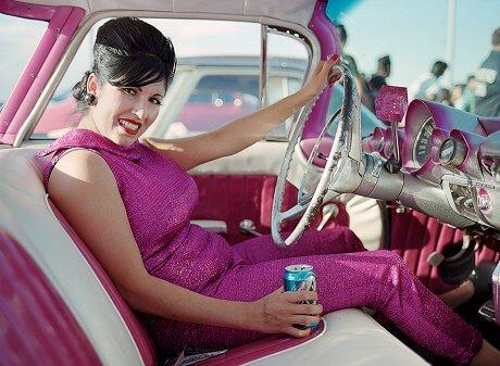 The Rockabillies Jennifer-greenburg-rockabillies-pink-car