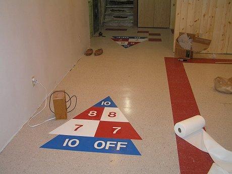 vinyl tile shuffleboard