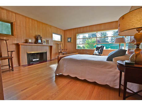 paneling in a mid century home