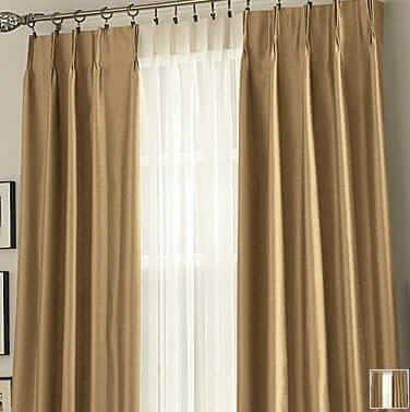 J C Penney Supreme Pinch Pleat Draperies on curtain designs for windows