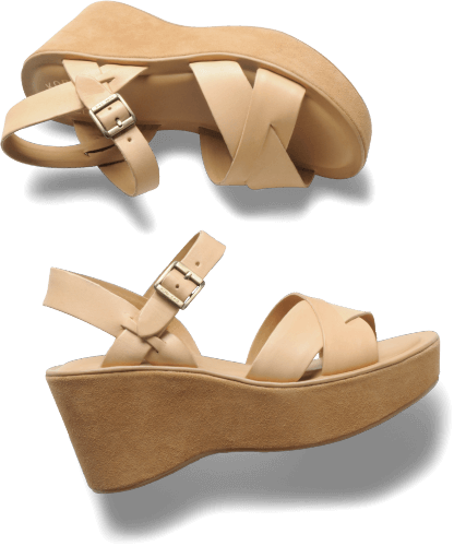70s style cork sandals