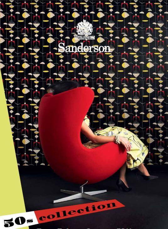 Sanderson 1950s Wallpaper And Fabrics New Line