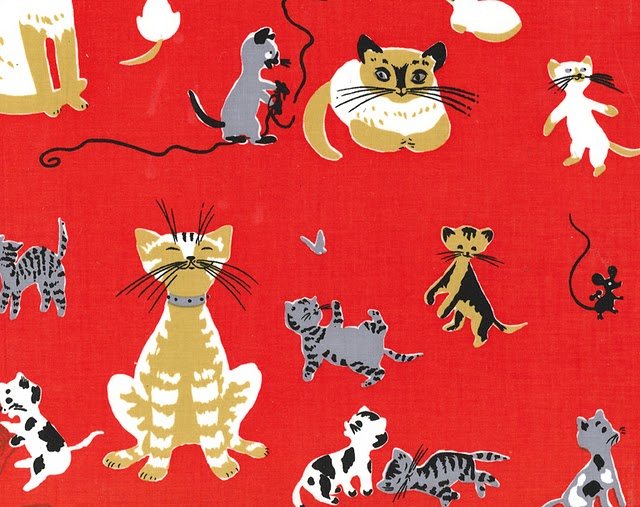 tammis keefe cats in red