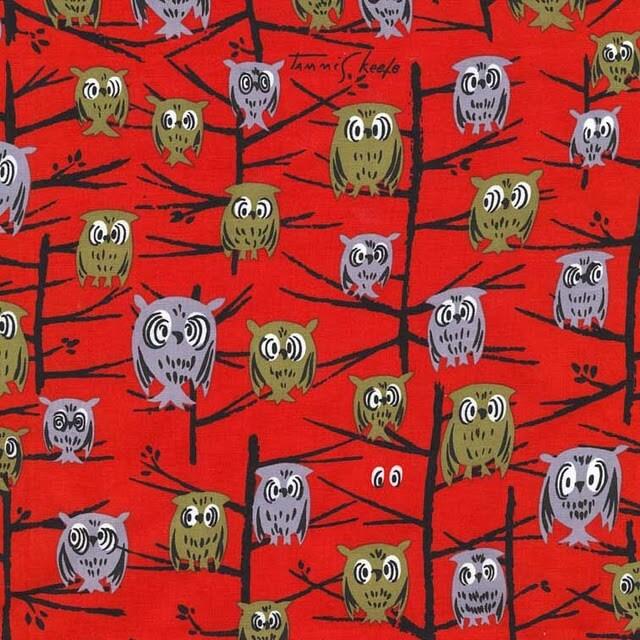 tammis keefe owl fabric