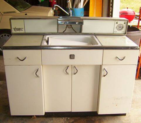 Servi Center Super Rare Metal Kitchen Cabinet Retro Renovation
