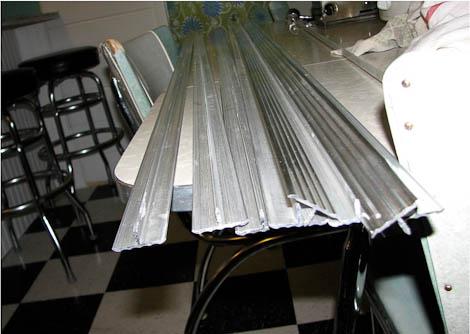 aluminum countertop edging