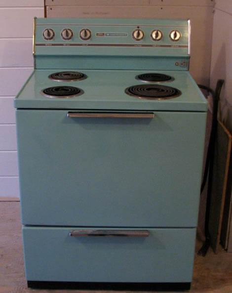 retro turquoise range