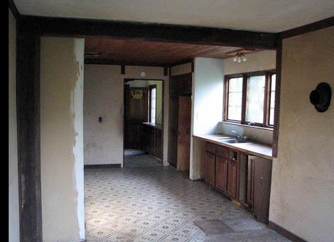 kitchen renovation before work began