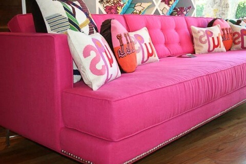 honeysuckle sofa from room service