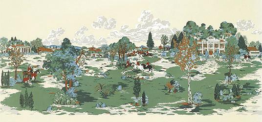 fox hunt mural from thibaut