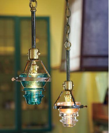 Put a bulb in it 24 upcycled pendant lights made from for Insulator pendant light