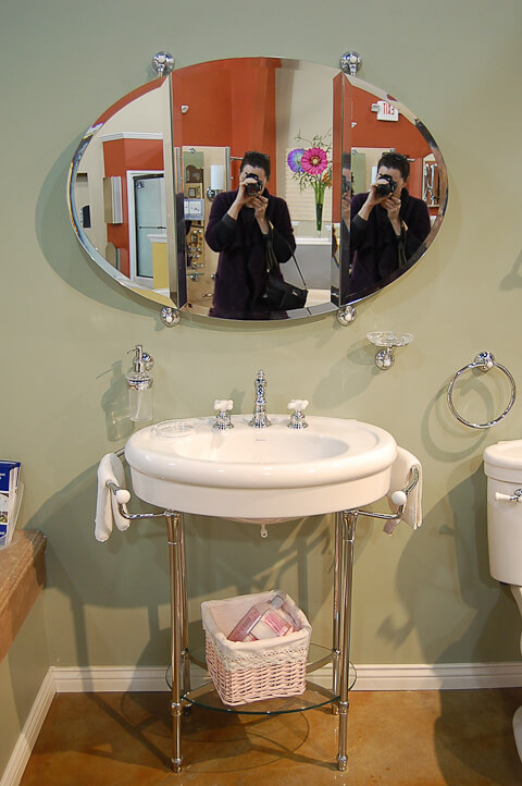 A vanity for the black and white 1940s bathroom 7 day gut for Bathroom ideas 1940