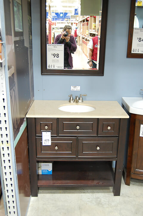 A vanity for the black and white 1940s bathroom: 7-day Gut ...