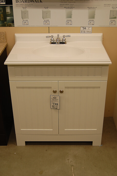 beadboard cottage style vanity from lowes