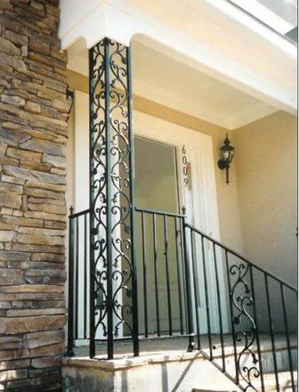 ornamental iron columns and railings from watson steel and iron