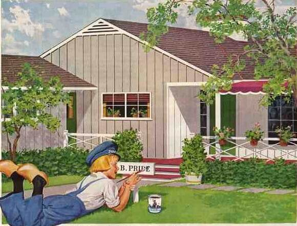 Analyzing details on a perfect mid century dutch colonial royal barry wills design retro - Dutch boy exterior paint colors property ...