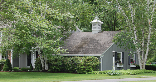 dutch colonial house garage with cupola
