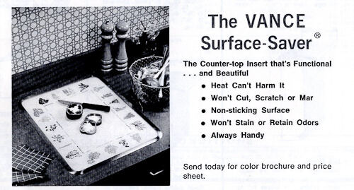 vintage surface saver cutting board from vance industries