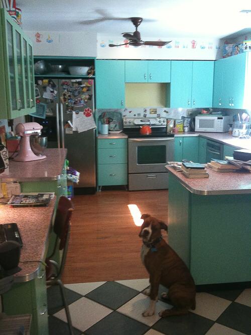 Http Retrorenovation Com 2011 06 12 6 Great Ideas From Karens Retro Kitchen Remodel Including Pink Terrazzo Countertops