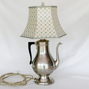 lamp made for vintage coffee percolator