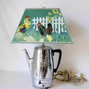 lamp made from vintage coffee pot