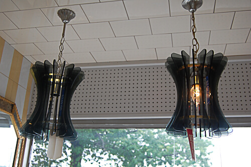 vintage italian glass pendant lights