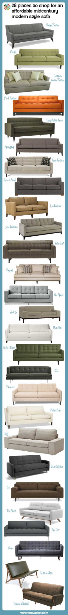 28 vintage reproduction sofas