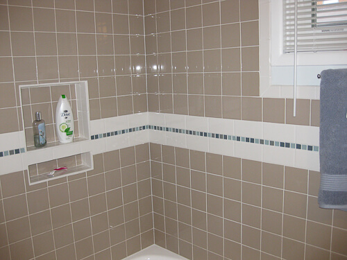 Tile Redi shower niche