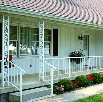 Add curb appeal to your midcentury home with ornamental for Where to buy columns for house