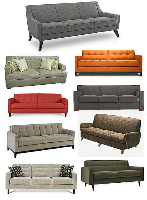 shop for an affordable midcentury modern style sofa retro renovation