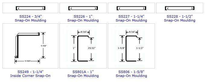 metal countertop edging