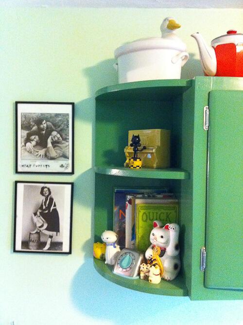 wood kitchen cabinets painted jadeite