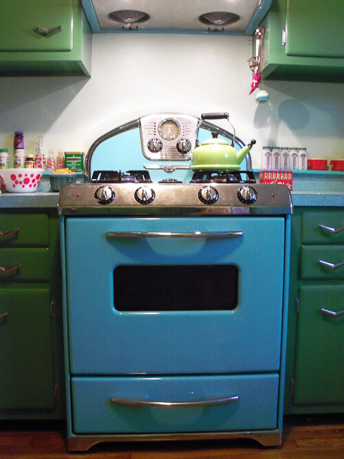 northstar stove in blue