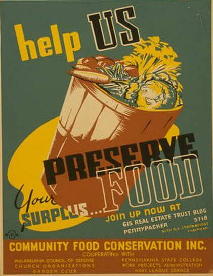 WPA canning poster