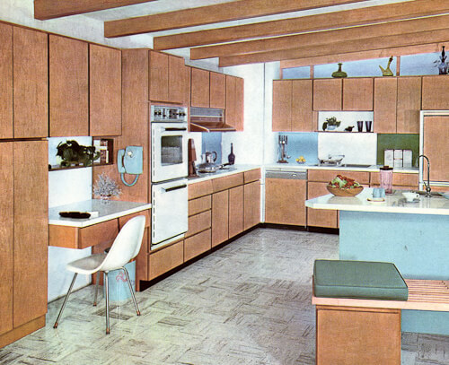 mid century modern kitchen from 1962