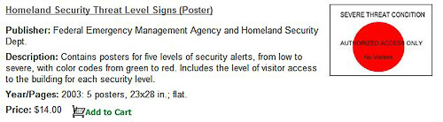 homeland security threat level signs
