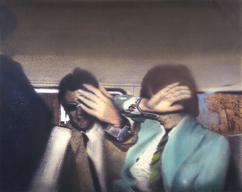 Richard Hamilton   Swingeing London 67 (f) 1968-9  Acrylic, collage and aluminium on canvas  support: 673 x 851 mm frame: 848 x 1030 x 100 mm  painting  Purchased 1969