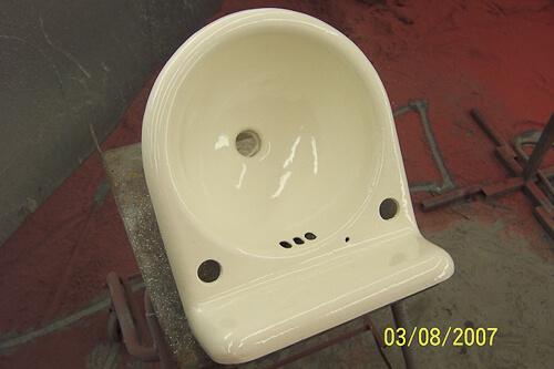 re enameling a sink